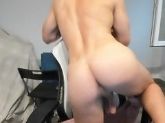 Dancing In Towel And Taking It Off Demonstrating My Sleek Donk With Humungous Pouch Suspending Low!