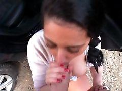 Unexperienced Teenage Damsel Lucia Banged In Public
