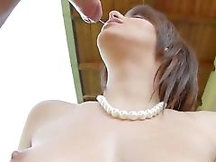 Striking Black-haired Doll Hanna Sweet Wraps Her Delicious Lips Around Her Paramour's Lengthy Hard Dick