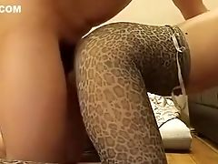 Rear End Fuckfest In Taut Stretch Pants