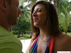 Gorgeous Chesty Mummy Sara Jay Gives Titsjob And Gets Her Cunt Fucked