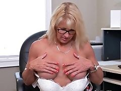 Sultry Mummies Bianca And Penny Masturbate At The Office