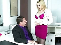 This Office Bi-atch Knows How To Get A Promotion And She Wants To Fuck