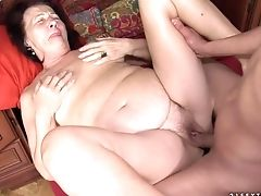 Horny Granny With Saggy Tits Celeste Gets Boned