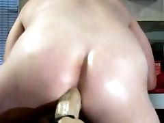 Humping A Big Dildo In The Ass