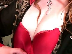 Lonely Housewife Tia Jones Is Playing With Her Fur Covered Crimson Haired Labia