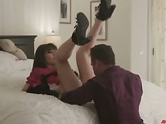 Uber-cute Lady In Doll Sundress Judy Jolie Gets Her Snatch And Mouth Fucked