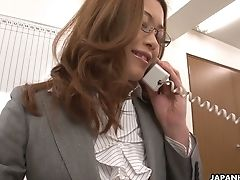 Japanese Hotty Tachiki Yui Is Sucking Her Colleague's Bone At Work