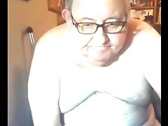 Grand-pa Jizz On Webcam