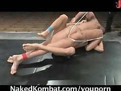 Hot Guys In A Nude Wrestling Action!