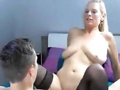 Horny Blonde Big Titted Mummy Loving Hard Manstick Rail Deeply