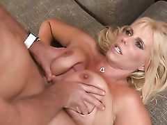 Blonde Honey Karen Fisher With Gigantic Funbags And Clean-shaved Muff Offers Her Bangable Mouth To Hard Dicked Levi Cash