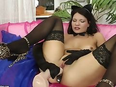 Ass Fucking Fuck In Black Stockings And Gloves With Helen Kroff