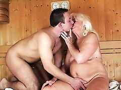 Blonde Gets Her Facehole Slammed Utter Of Pole In Dick Sucking Act With Horny Dude
