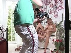 Blonde Stacy Silver Loves The Way Silvia Saint Gobbles Her Vagina
