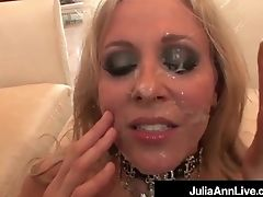 Mega Cougar Julia Ann Does Interracial Monster Facial Cumshot & Anal Invasion!