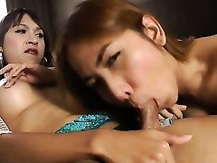 Shemale Cocksluts Namtan And Pop Get Nasty