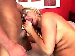 Cougar With Big Sub Sates Guys Sexual Desires And Then Gets Jism Sprayed