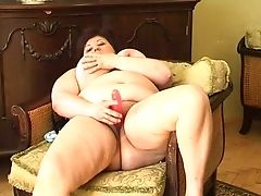 Bbw Matures Chesty Woman On The Petite Armchair Masturbates On Webcam
