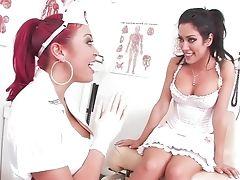 Exotic Pornographic Stars Mia Lelani And Capri Cavanni In Horny Stockings, Black-haired Pornography Flick