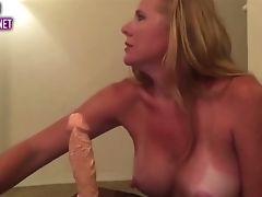 Supah Mummy Rails Her Fresh Faux-cock
